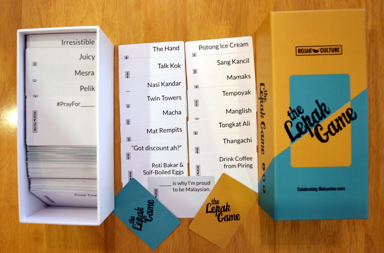 'The Lepak Game', a Malaysian version of 'Cards Against Humanity', features various cards which players can match together to make unique and funny combinations. Photo: Filepic
