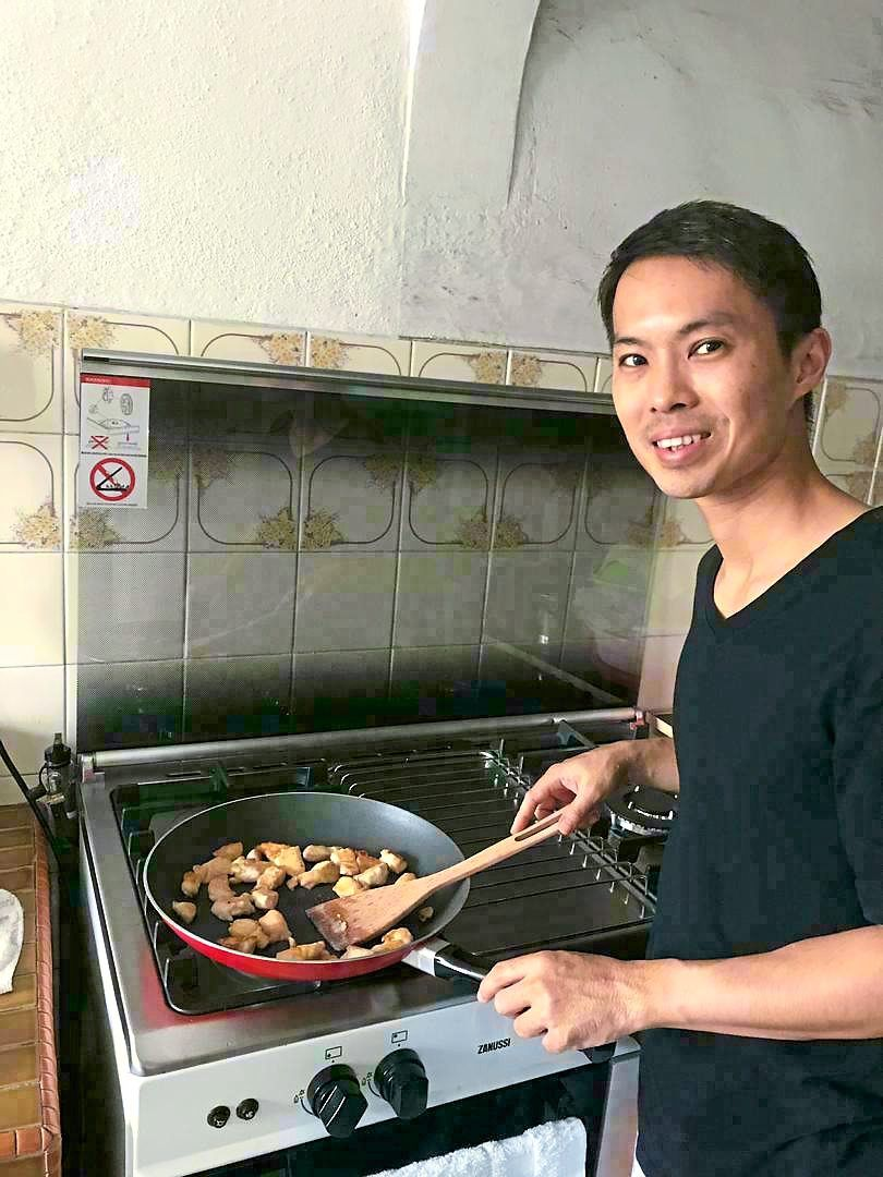 Tan was used to eating out and says the MCO has forced him to get back into the kitchen. — SAMUEL TAN
