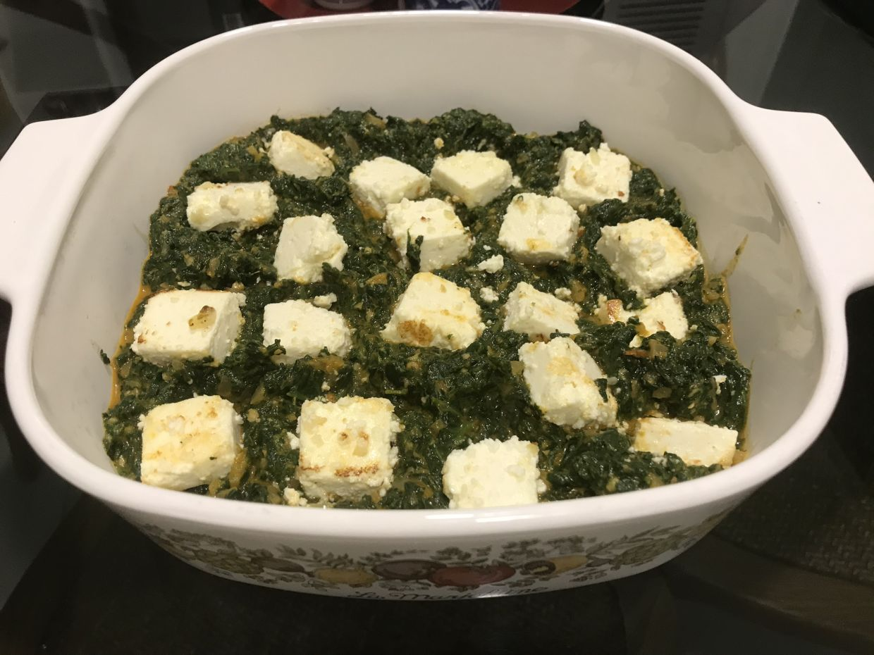 Sue has diversified into making more adventurous meals, like palak paneer. — SUE LING WOON