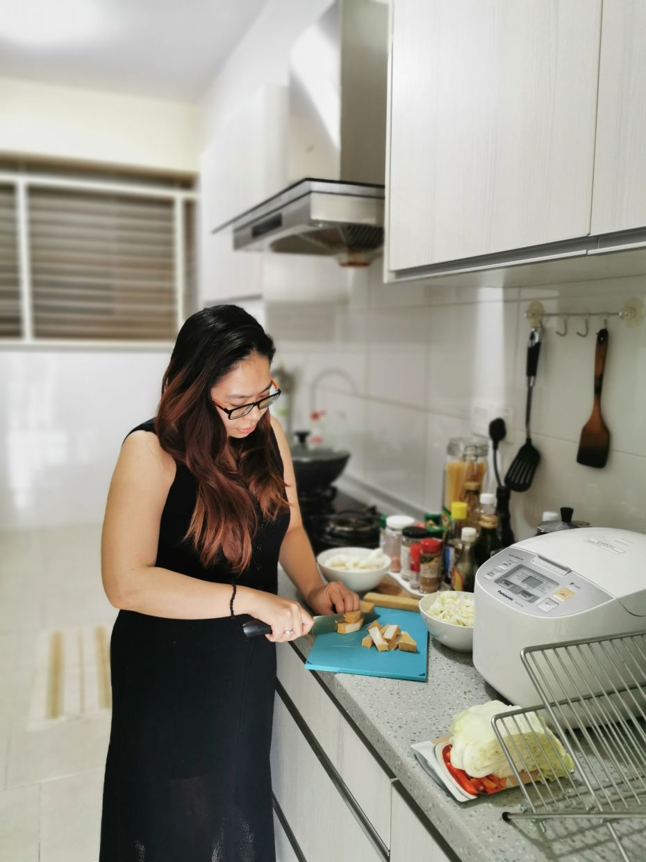 Vaz previously only used to cook express meals some weekends, but since the MCO started, she has found herself experimenting as she has to cook meals every day. —  CINDY ELIZA VAZ