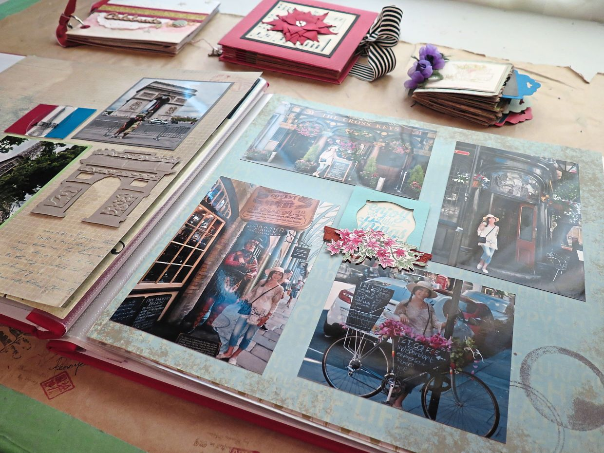 Shu enjoys scrapbooking as a way to express her creativity while giving her photo albums a personal touch and a sense of nostalgia.