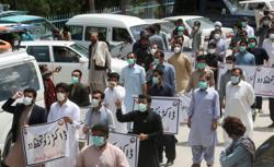 Doctors strike in southwest Pakistan in row over coronavirus protection