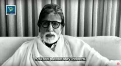 Indian superstars Amitabh Bachchan and Rajinikanth want you to stay home