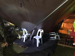 Cop on MCO duty injured after tent collapses in freak storm