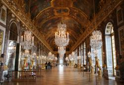 Even during lockdown, you can still take a walk through the Palace of Versailles.