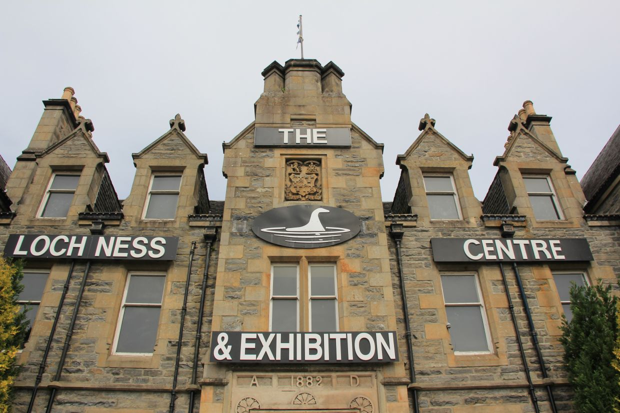 The Loch Ness Centre provides information about the special features of the lake and research into the mythical monster, Nessie.