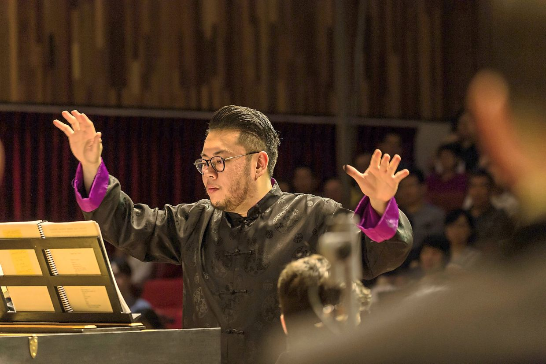 Bachfest Malaysia artistic director David Chin conducting the classical group. Photo: David Chin