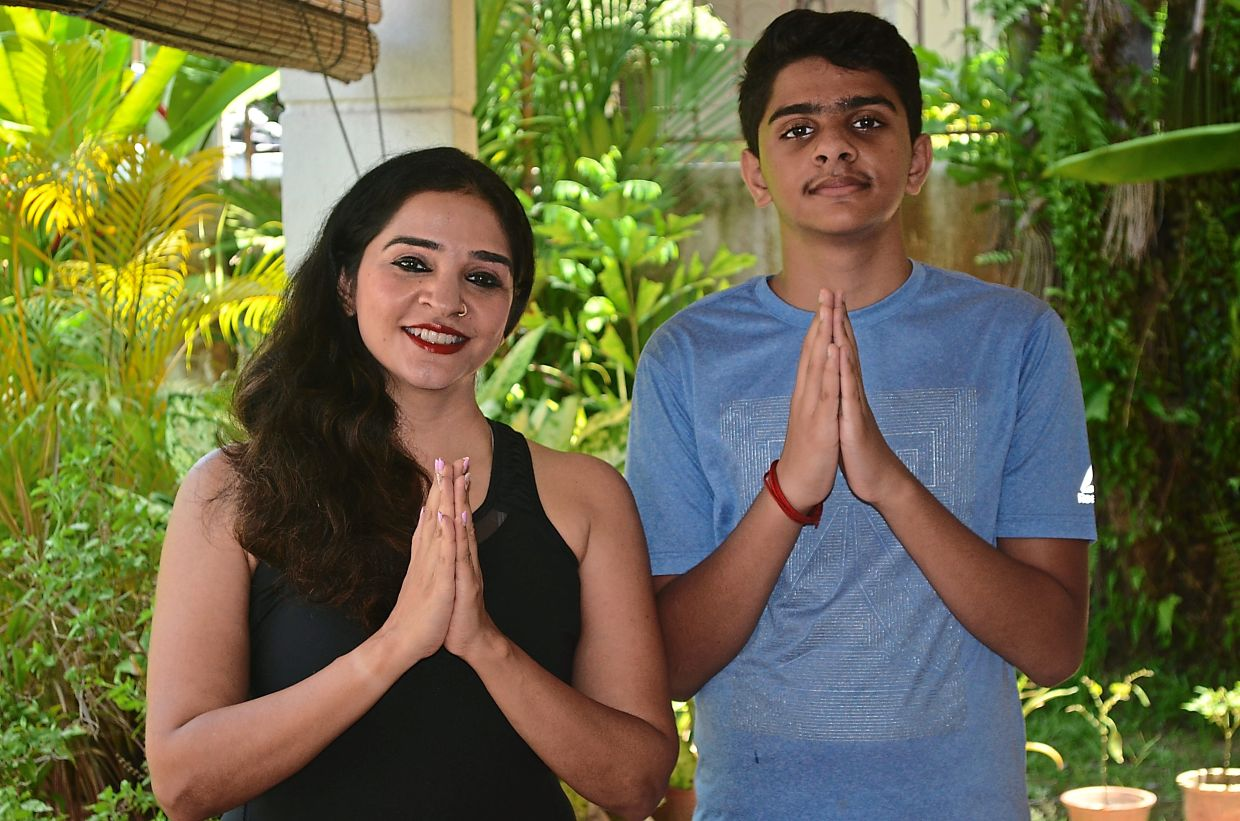Sharing her passion for yoga and fitness with her son Krishan has been a wonderful experience.