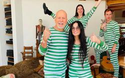 Exes Bruce Willis and Demi Moore self-isolate together