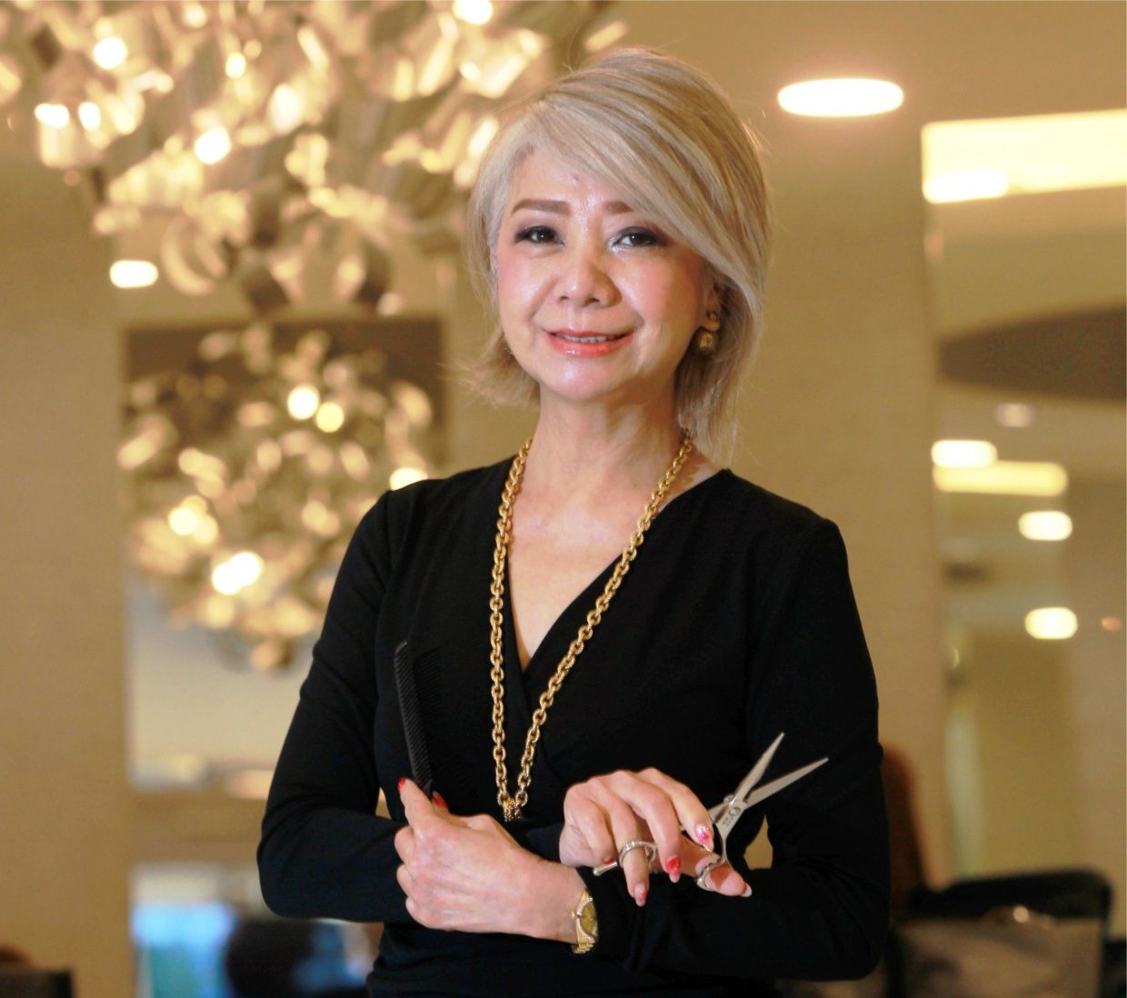 Instead of cutting your hair during this MCO, Datin Winnie Loo suggests embracing change and maybe thinking of paving the way for a new hairstyle, by leaving your hair longer now. -- ART CHEN/The Star
