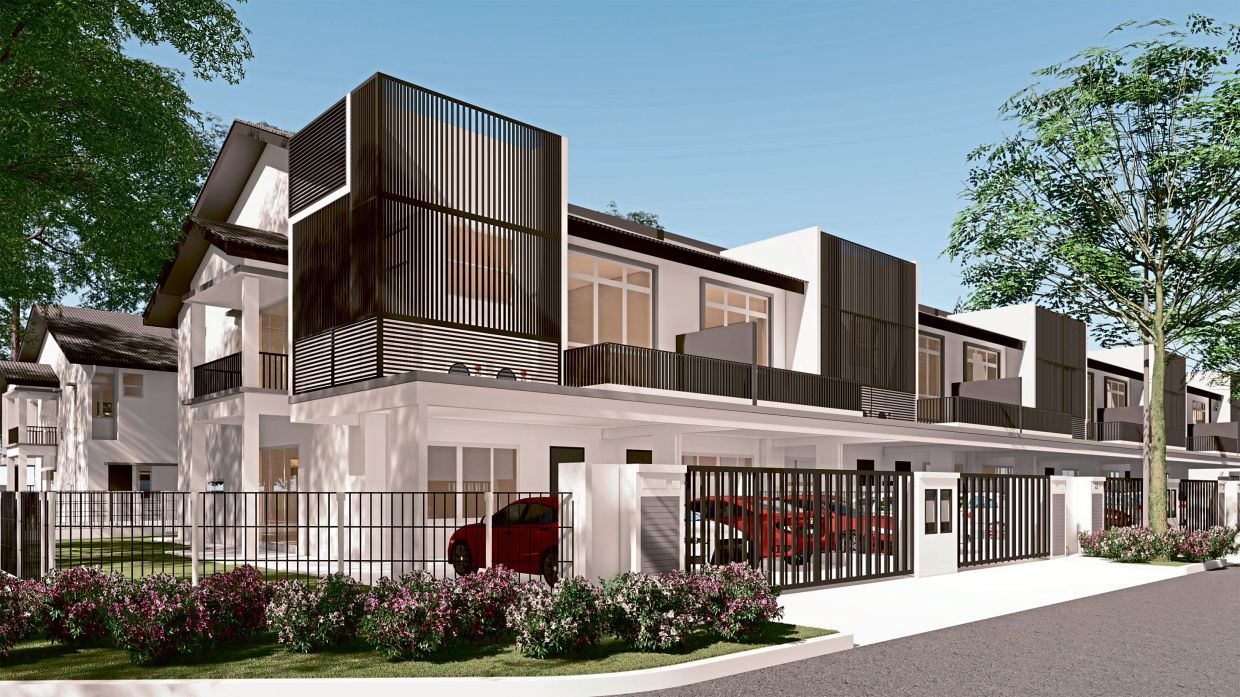 Iconia Garden Residence two-storey terrace suitable for new home buyers