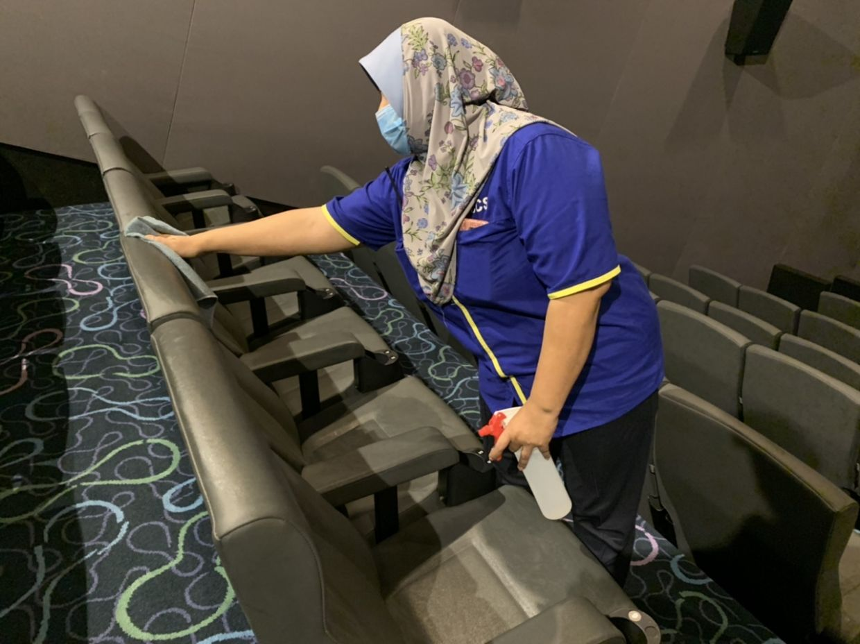 Finas and film exhibitors are looking into steps to keep patrons safe when cinemas open once again like sanitising the seats. Photo: mmCineplexes