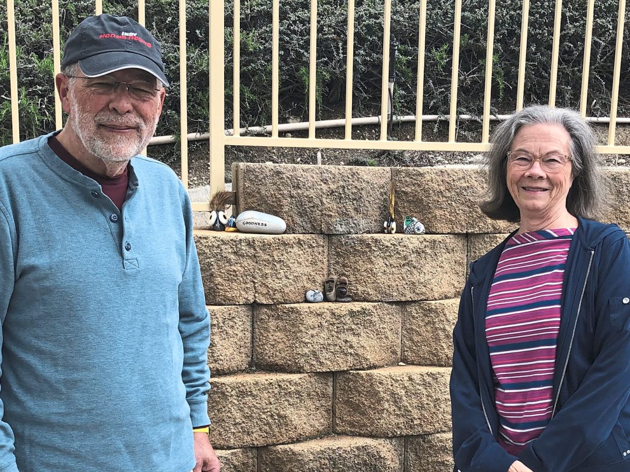 Clarke and his wife, Ann, are part of the community art project in their neighbourhood.