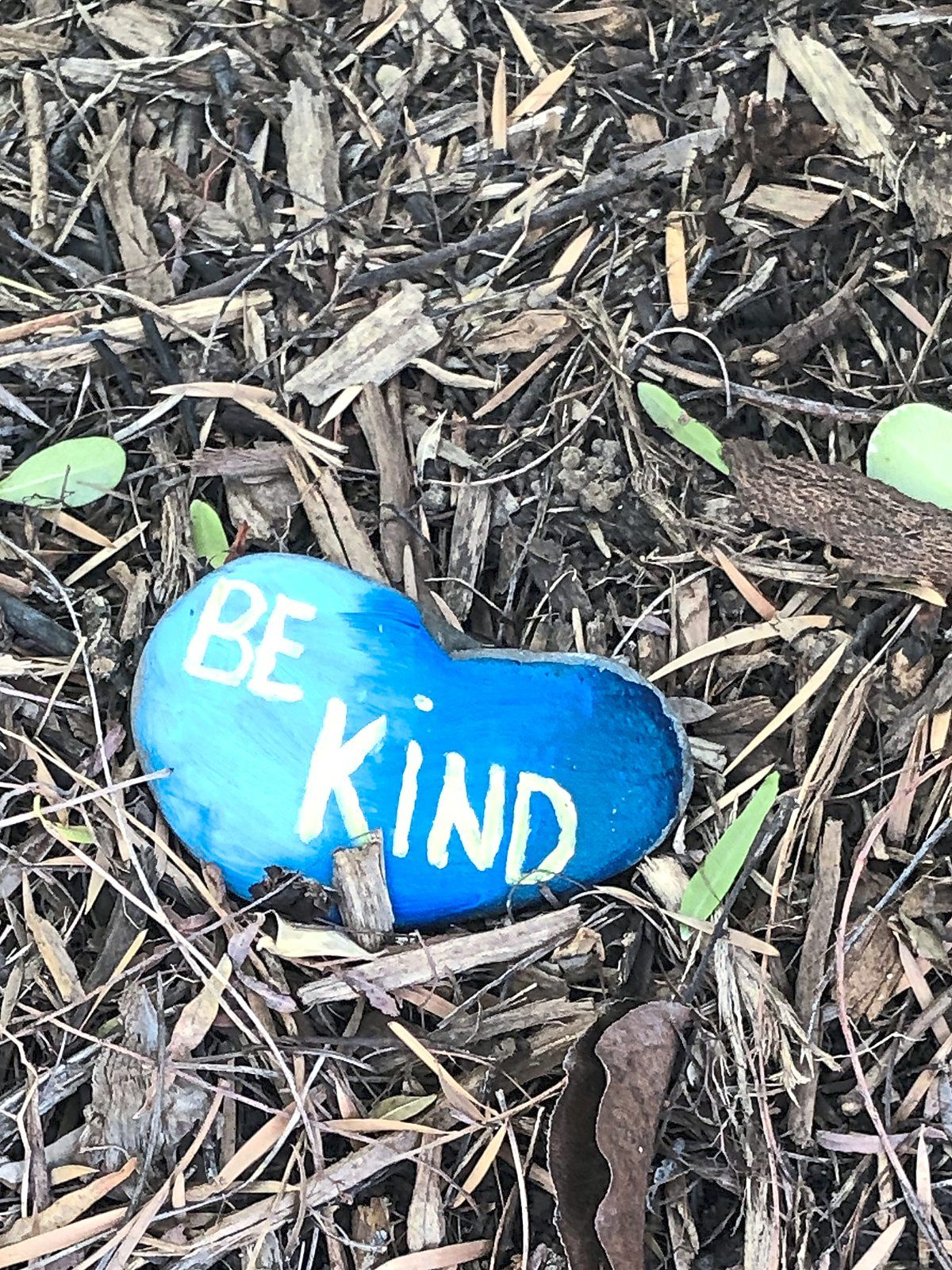The rocks incorporate messages of hope and encouragement.