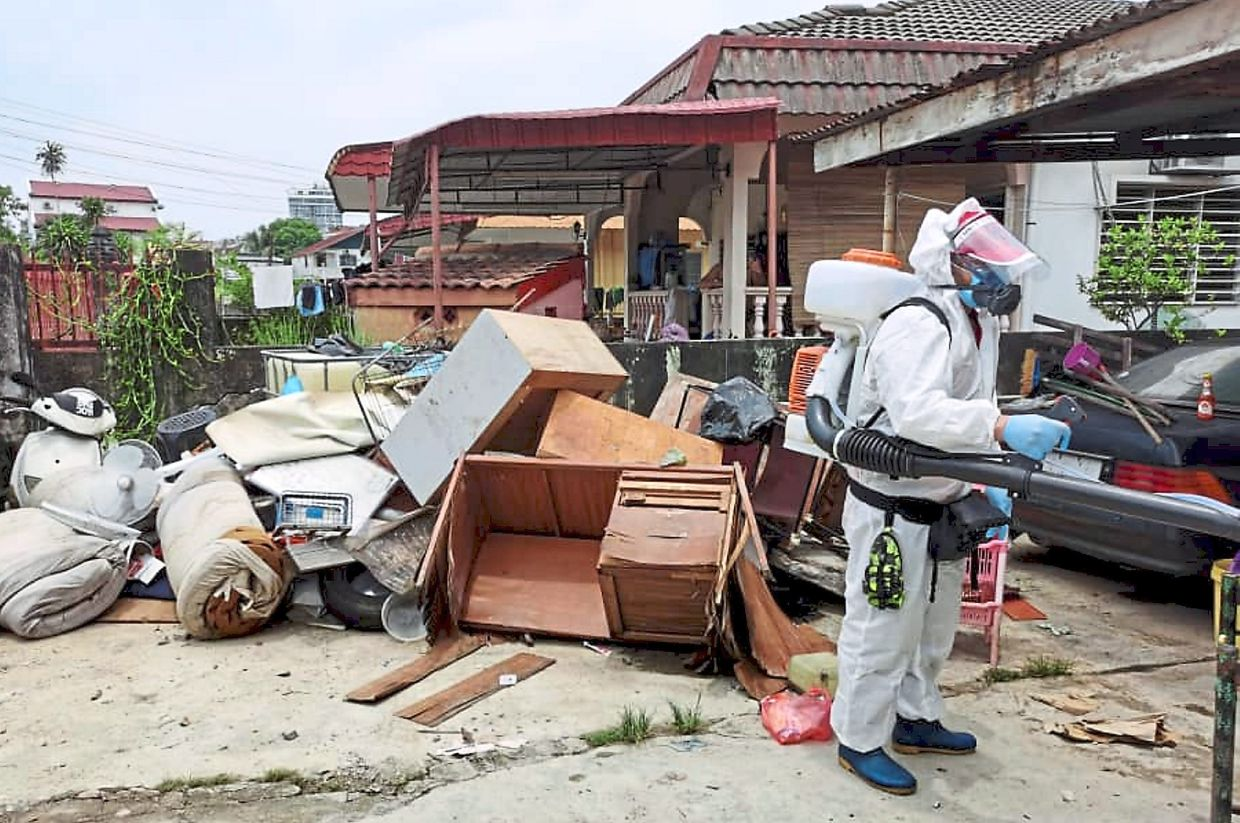 All 75 houses affected in Kampung Chempaka were also disinfected.