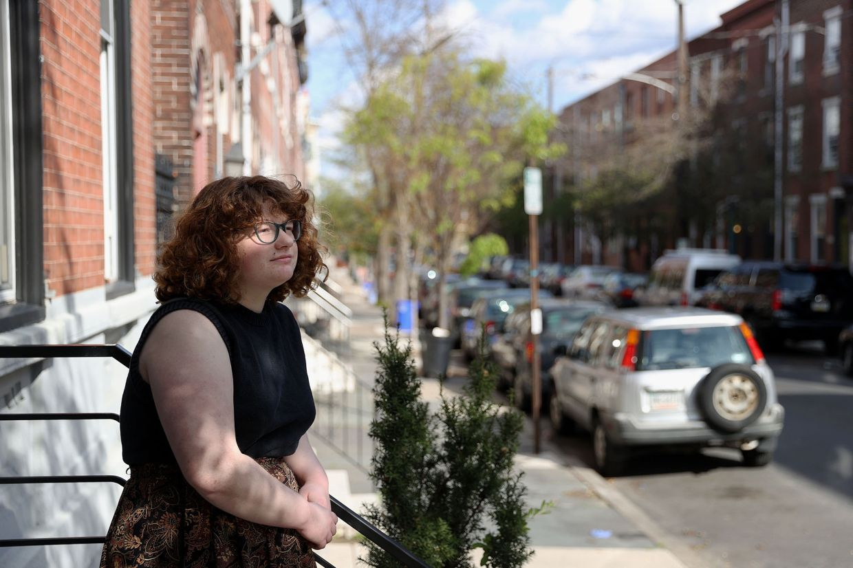 Mestrich outside her South Philadelphia home. Mestrich has been playing the Sims 4 video game while isolating during the coronavirus pandemic. — The Philadelphia Inquirer/TNS