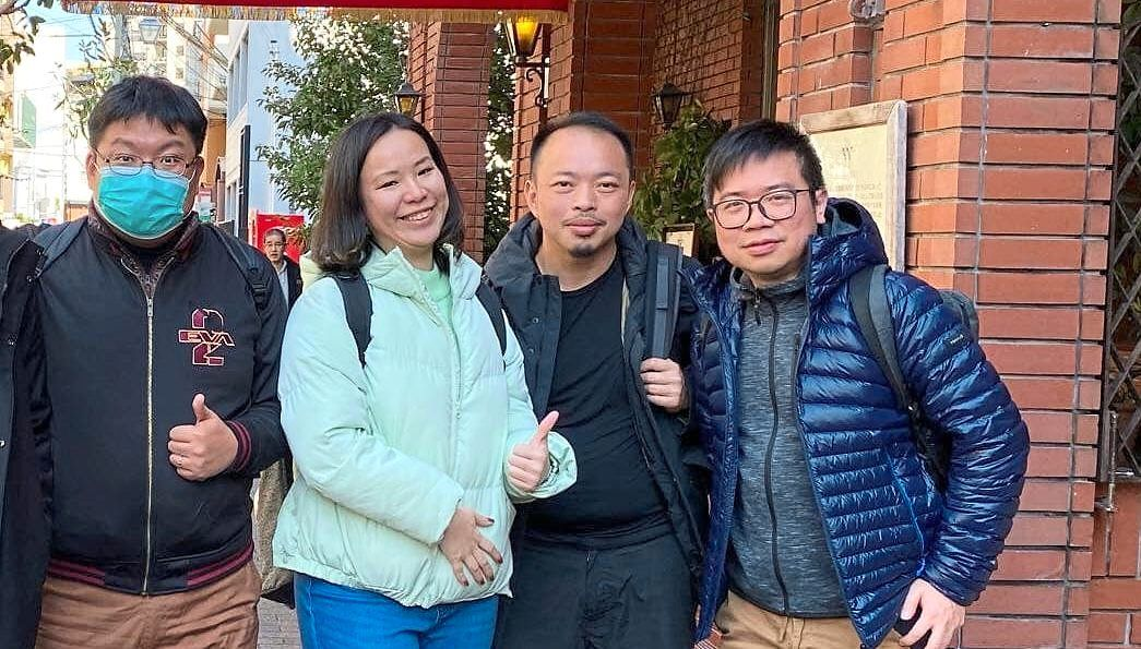 (From left) Shee, Yim, Lim and Chang are among the key people behind the 'Malaysia Covid-19 Survival Info' group. This photo was taken before the MCO came into effect on March 18.