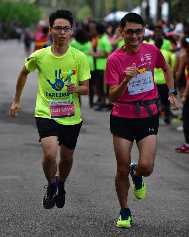 Max (left) and his pacer, Captain Yip at the KL Bar Run earlier this year. Photo: Care2Run
