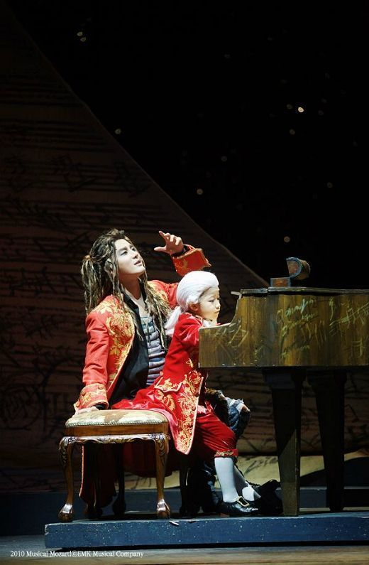 Kim Jun-su, formerly of boy band TVXQ, in the musical production 'Mozart!'. Photo: EMK