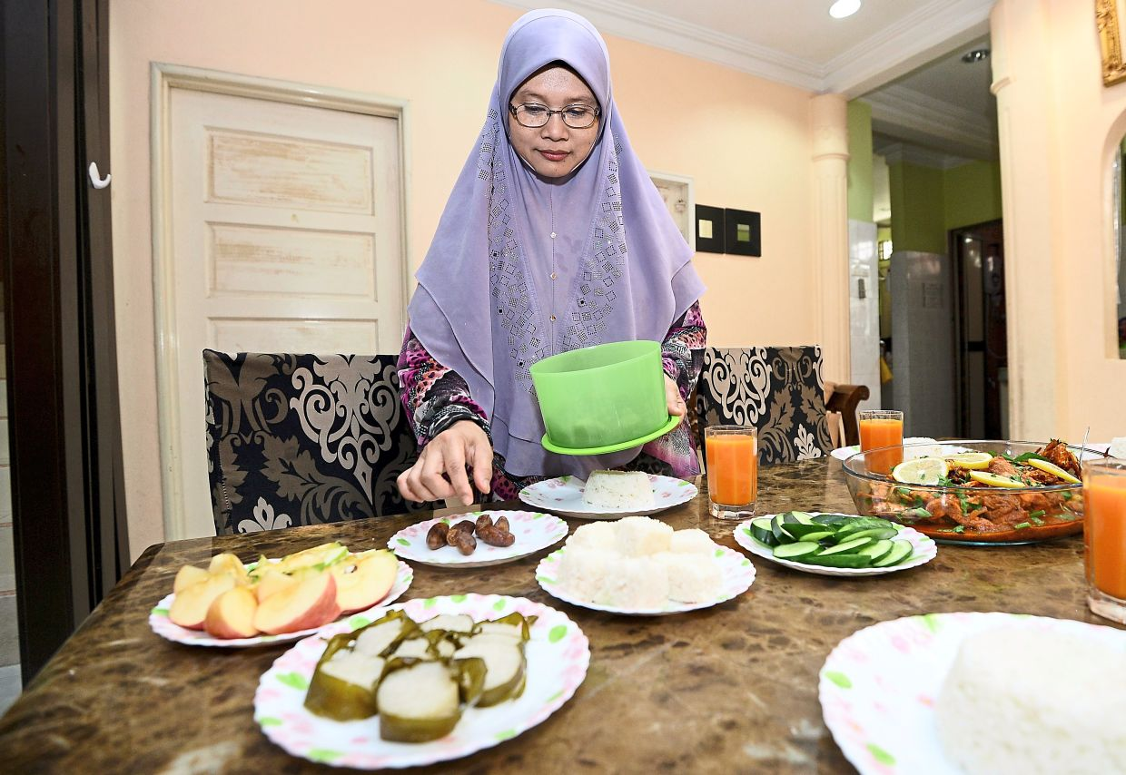 Zamzarina says that buka puasa this year will be much quieter and simpler than in previous years. Photo: The Star/Azhar Mahfof