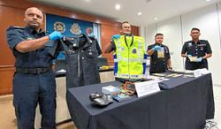 Drug trafficker caught with police uniform