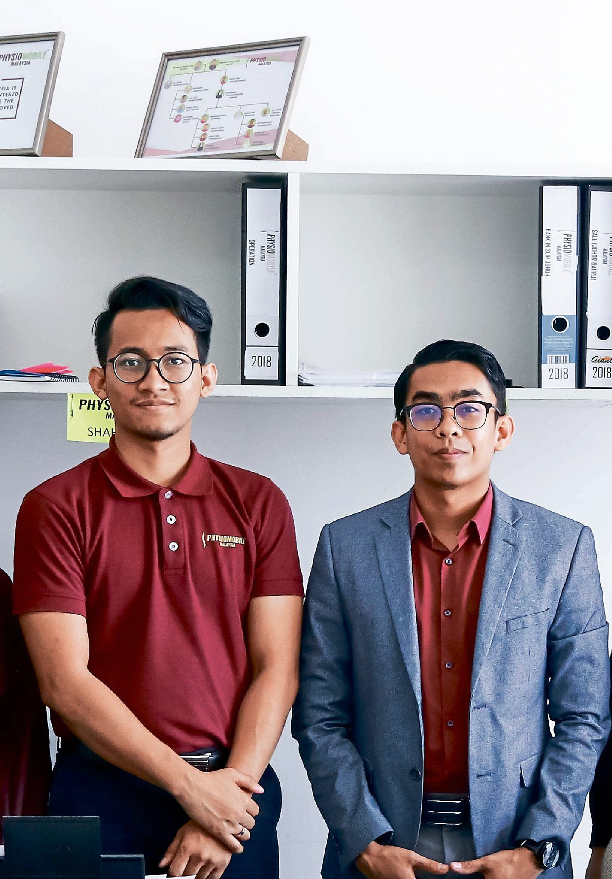 Solid foundation: Nidzam (left) and Saiful's careful cash flow management will tide them through the MCO.