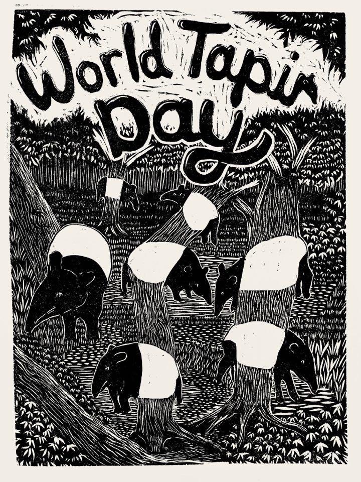 Pangrok Sulap has created a special World Tapir Day 2020 poster. Photo: Pangrok Sulap