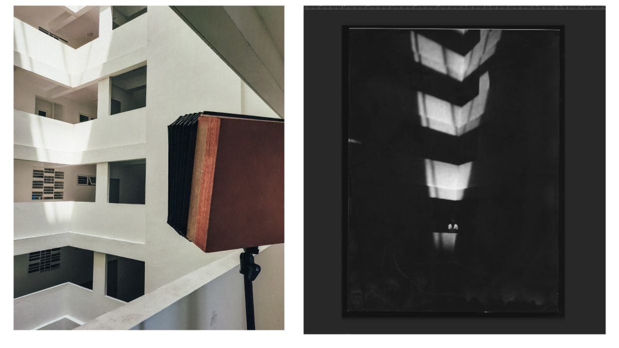 Jakob Zuyten's work showcasing how the box is turned into a camera, and the 'final' result.