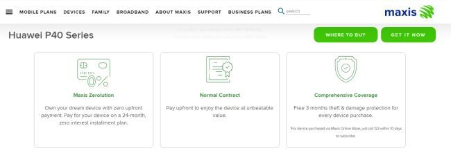Choose which plan that suits you best on Maxis.