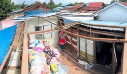 32 flee homes after villages hit by flash floods