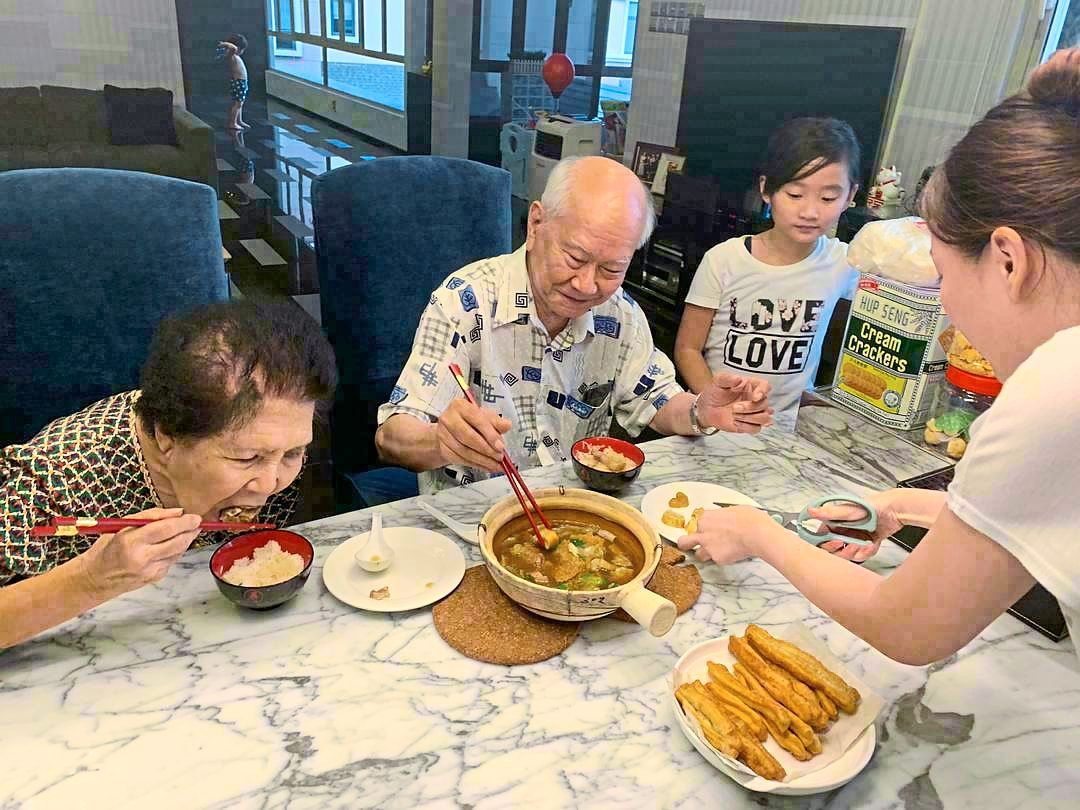 Ng cooks for his wife, children and grandparents on a daily basis and says there is nothing like the family bonding over food. — RAYMOND NG