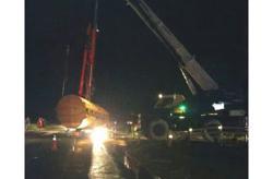 Palm-oil tanker overturns along Pan Borneo Highway