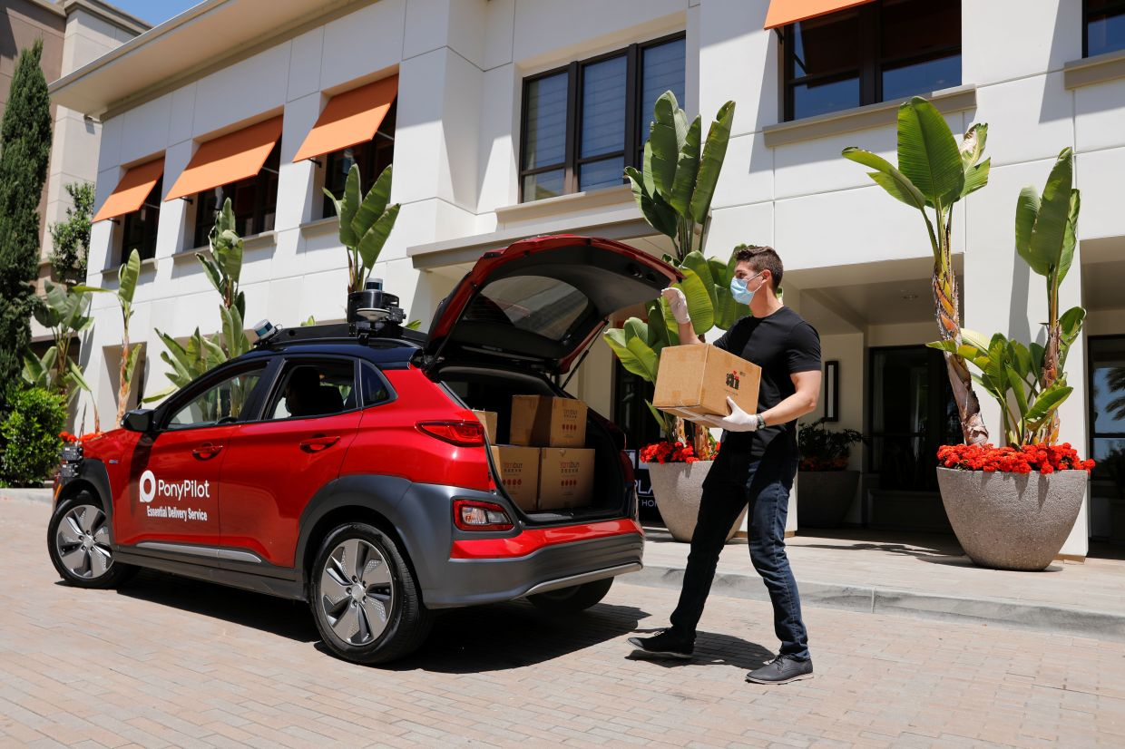 Pony.AI cars are delivering groceries in Irvine from local e-commerce platform Yamibuy and work with the City of Fremont to deliver meals to a local emergency shelter programme.