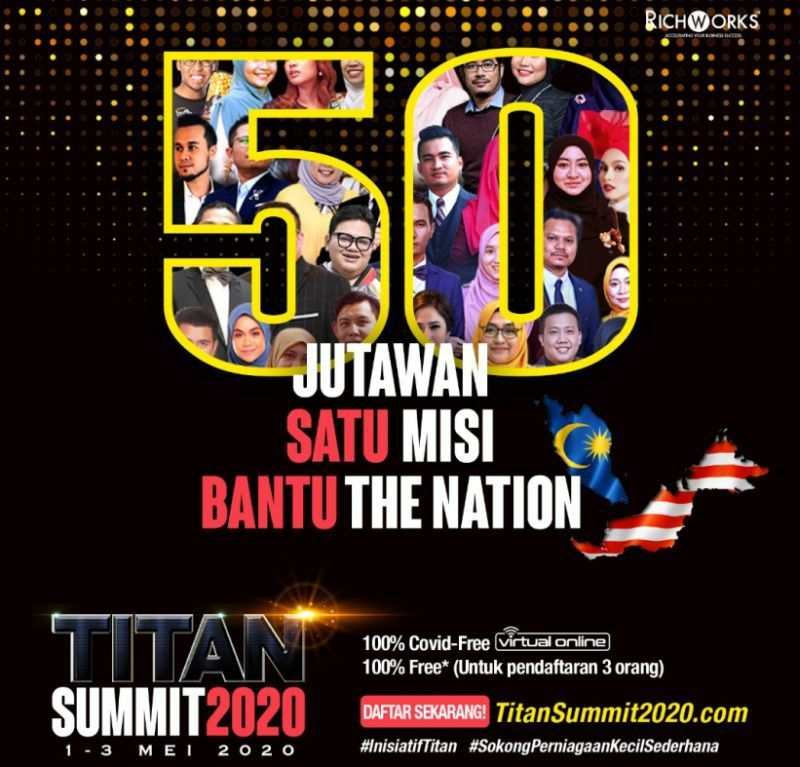Titan Summit 2020 will be online from May 1 to 3.
