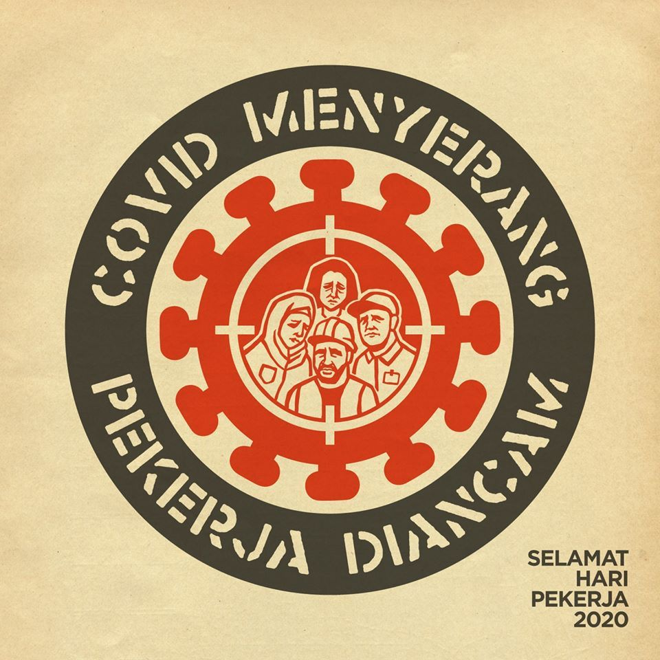 2. Fahmi Reza, who leapt into PSA action with his punk-inspired Covid-19 poster designs in early March, presents a Labour Day 2020 tribute with a topical pandemic message. On his Facebook the artist urges for solidarity with workers and their rights to be upheld, especially with a post-MCO employment climate of unlawful pay cuts and job terminations looming. Photo: Fahmi Reza