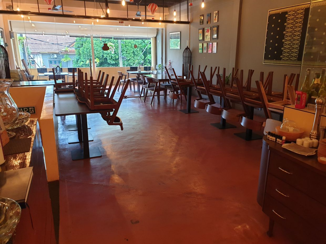 Since the MCO started, the restaurant has been desolate and empty, something that is a common sight in eateries across the country.