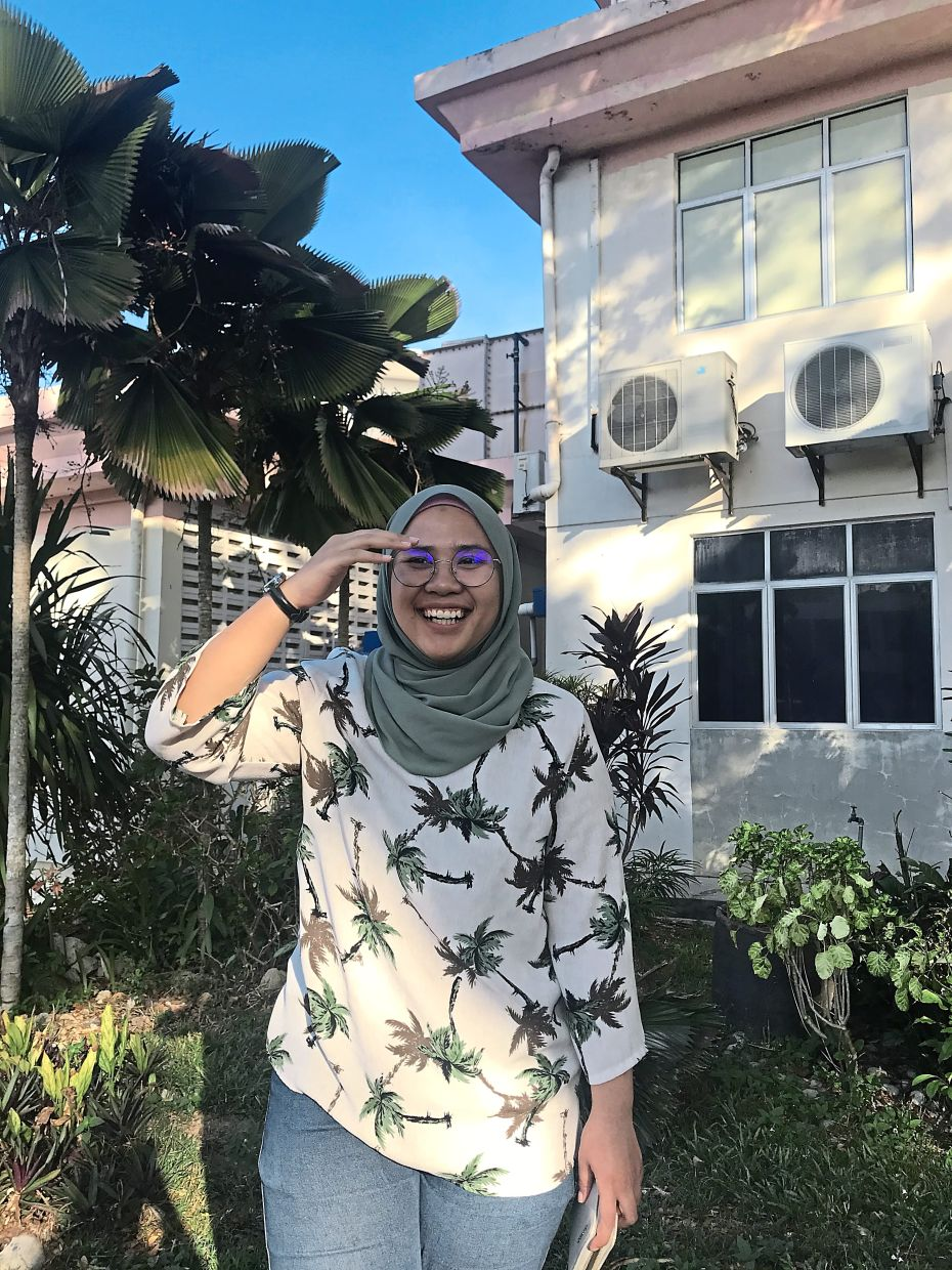 This Ramadan, Nur Farhana is listening to podcasts from prominent religious figures while staying at home. — NUR FARHANA MOHAMAD FARRIS