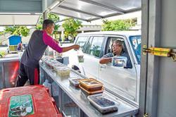 Food truck drive-through service begins