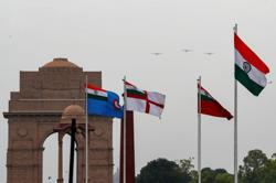 With fighter jets and army bands, India's military thank health workers