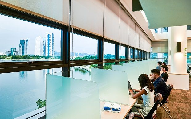 Thanks to the campus's location by the majestic Putrajaya Lake, students get to enjoy a fabulous view while studying.
