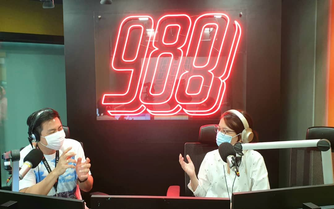 A maximum of two deejays are allowed in one recording studio at both 988 and Suria.