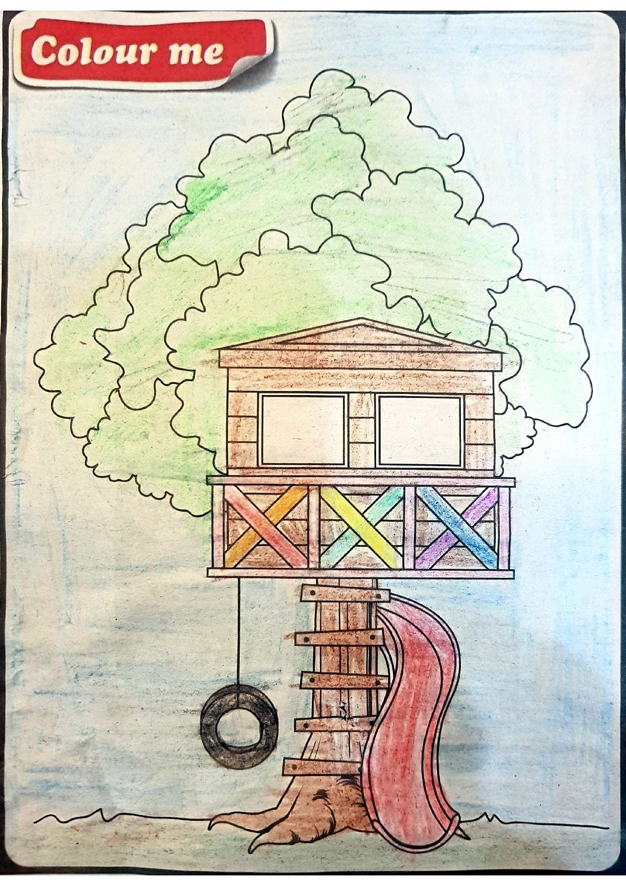 Starchild Readers Show Their Creativity In Drawing Tree Houses The Star