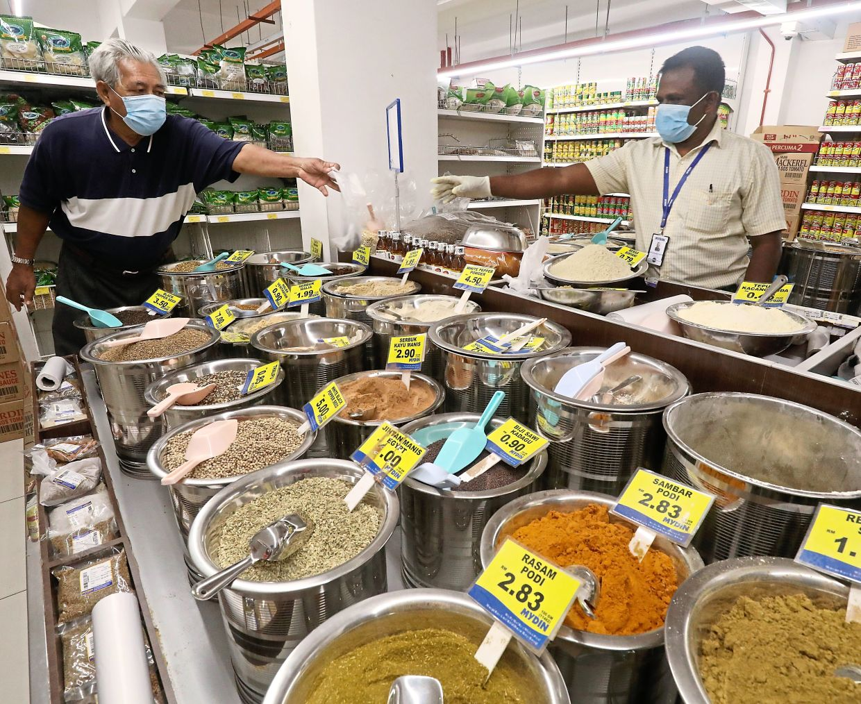 Many people headed to spice shops in Masjid India after the enhanced MCO was lifted.