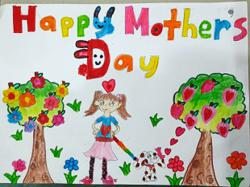 Malaysian children create colourful drawings for Mothers Day