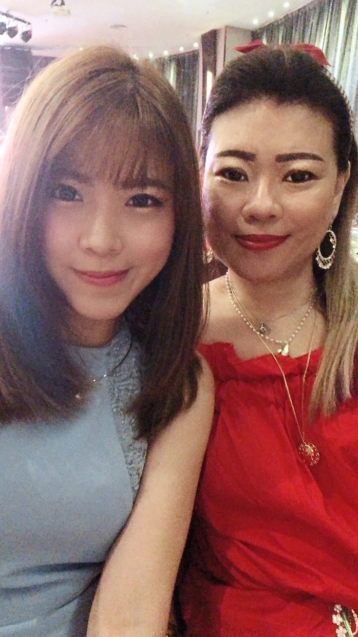 Chua with Wong having a girls' night out before the MCO.