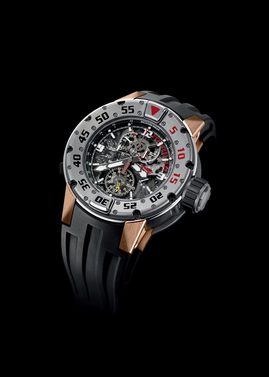 The front of the RM 025 Tourbillon Chronograph Diver's Watch