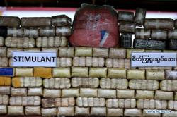 Large haul of drugs seized worth millions in Myanmar's northwestern state