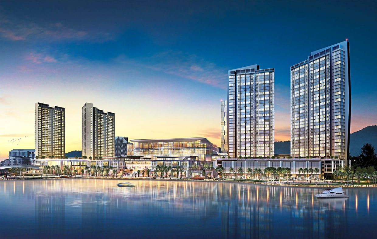 Glittering: Artist impression of The Light City project. A vibrant mix of retail, hospitality, commercial and residential, it is set to catapult Penang into the big league.