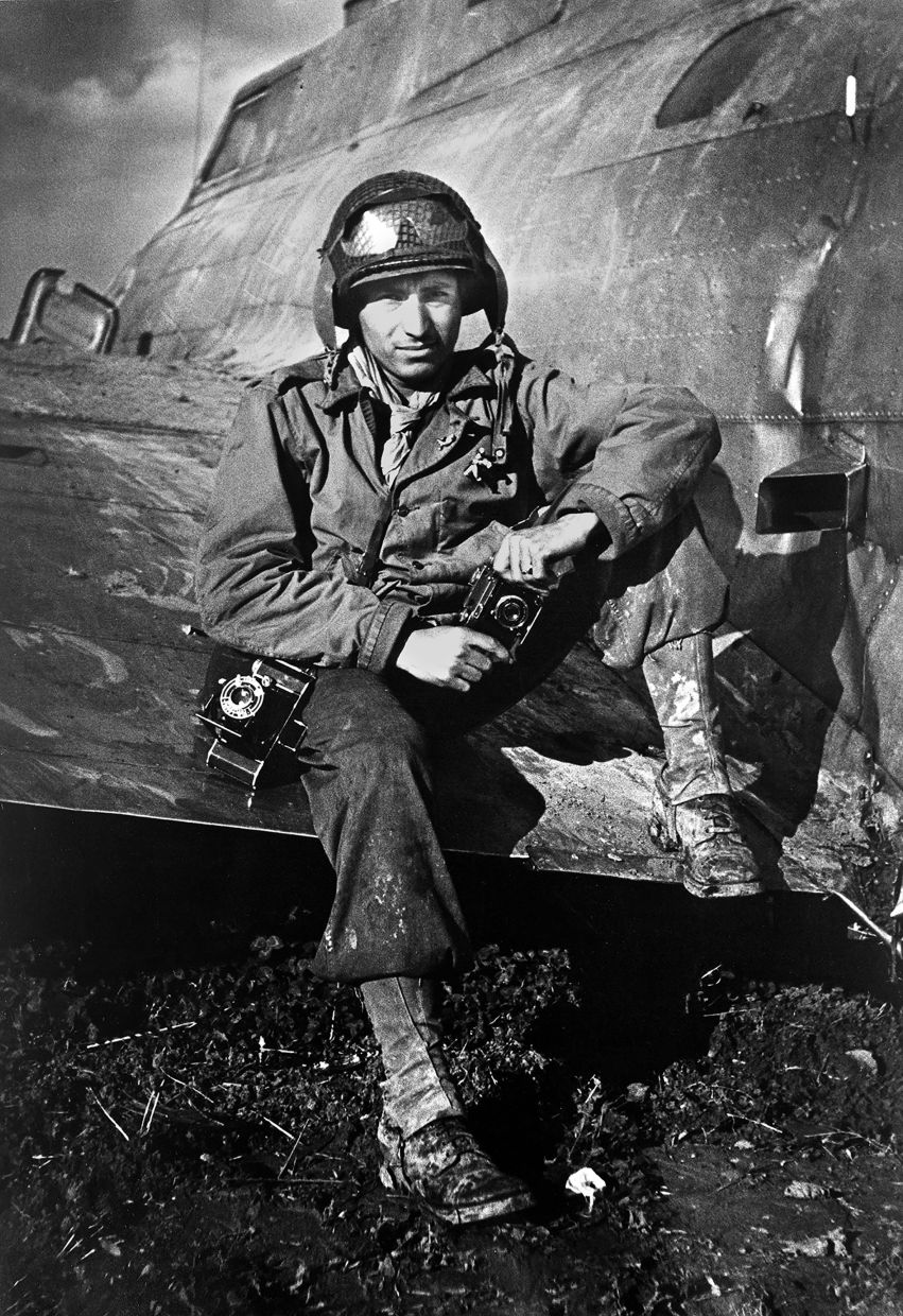 This 1945 photo shows Vaccaro posing on the wing of an airplane during WWII. Photo: AP