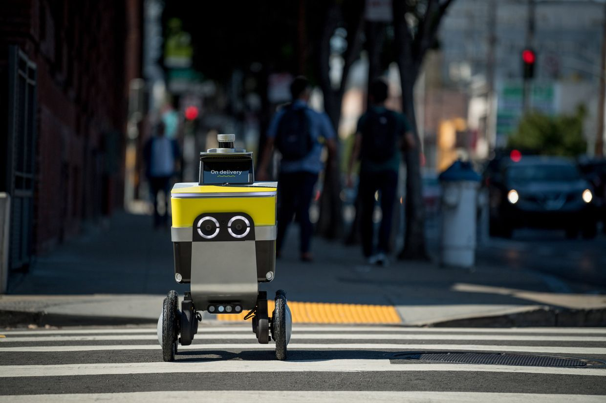 Postmates began developing autonomous delivery robots, a project known internally as Postmates X, in 2017. It partnered with Phantom Auto last summer, a few months before its fleet of four-wheeled, black-and-yellow robots began making short-range deliveries in Los Angeles. — Postmates